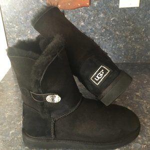 UGG Black BAILEY BLING Boot Sz 8